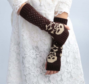 Multi-functional Long Warm Gloves Half-finger