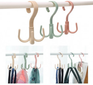 360 Degree Rotatable Bag Shoes Belt Scarf Hanger