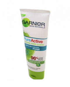 Original Garnier Pure Active Facial Foam Tube 100 ml