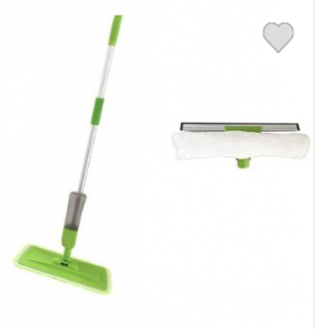 Spray mop with window cleaning