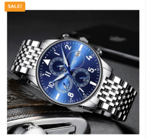 NIBOSI Chronograph Waterproof Watch N12358