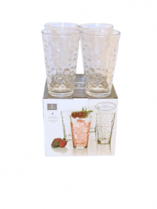 Original Gibson Home Great Foundations Bubbles Glass Tumbler Set 473 ml 4 pcs