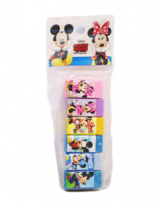 Original Disney Mickey Mouse Erasers 6 Pcs Z-6224