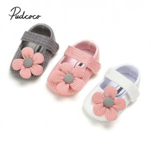 Newborn Girl Baby First Walkers Soft Sole Crib Shoes