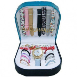 10 In 1 Multicolor Big Dial Ladies Matching Watch