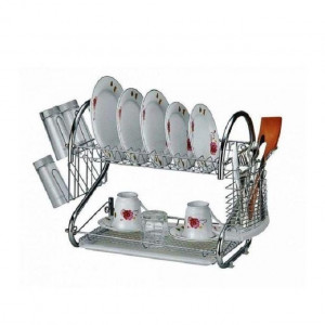 Layer Dish Drainer Rack Stainless Steel