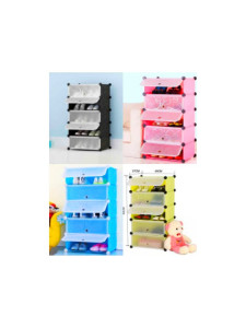 Storage Cabinet 5 Layer DIY Rack Shoe Cabinet Shoe Rack Filing Cabinet Portable Storage Blocks