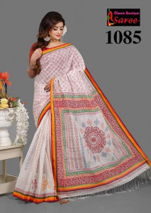 Cotton 100% Embroidery Sari Blauz Pes Inclining