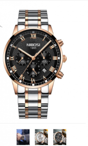 Nibosi Men Sport Casual Luxury Business Quartz Stainless Steel Band Watch 3404