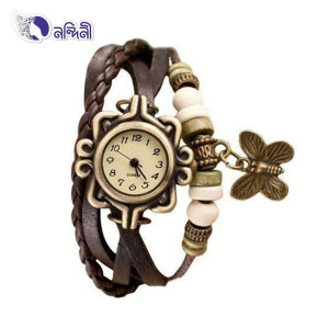 Bracelet Type Wrist Watch For Women-Chocolate