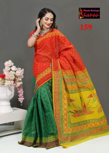 Cotton Embroidery Sari Blauz Pes Inclining