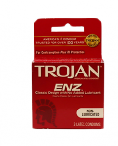Original Trojan ENZ Non Lubricated Condoms 3 pcs