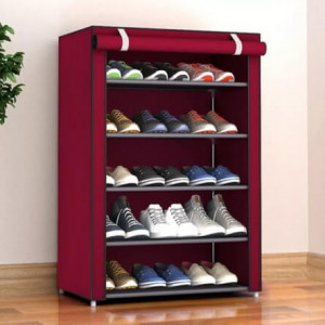 Shoe Cabinet Organizer Holder 6 Layers Assemble Shoes Shelf Home Furniture
