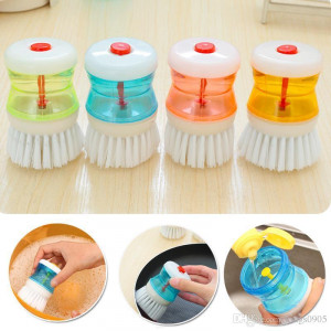 Big Offer LALA Plastic Clean Brush Dish Brush Kitchen Cleaning Hydraulic Dressure Scrubber