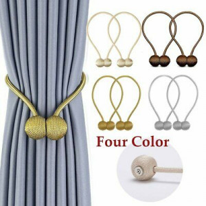 Magnetic Ball Curtain Tie Back (2 Back Sets)