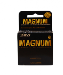 Original Trojan Magnum Lubricated Premium Latex Condoms 3 pcs