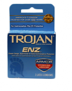Original  Trojan Armor Spermicidal Lubricant Condoms 3 Count