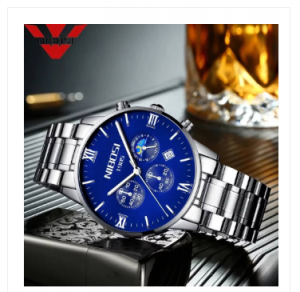 NIBOSI Blue Watch Men Watches Luxury Top Brand Mens Watches-3368