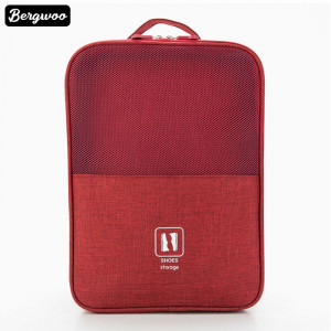 3 Layers Polyester Travel Shoe Storage Bag