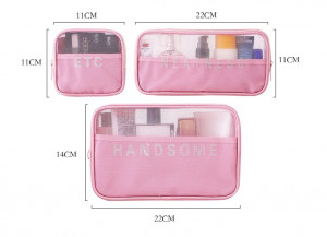 3 Pcs Set Women Travel Cosmetic Organizer Bag