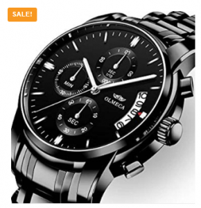 NIBOSI Luxury Fashion Casual Dress Chronograph Waterproof Stainless Steel Band Men Watch-3195