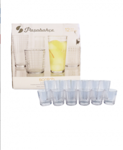 Original Pasabahce Scotch Tumbler & dof Clear Glass Set 12 pcs