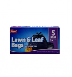 Original Ri-pac Lawn & Leaf Bags With Twist Ties 39 Gallon 5 Bags