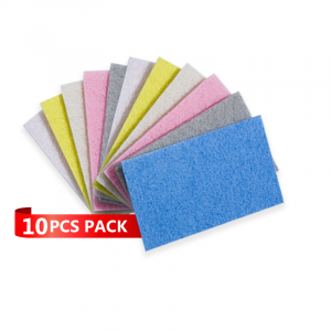 Proclean Scouring Pads Cleaning Scrub Sponge Non Scratch Scouring Pads Flexible Scouring Sponge Perfect For Kitchen Dishes Cleaning-Quick Dry Souring Pads 10 Pcs Pack