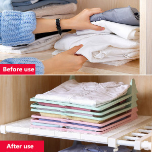 5 Pcs Folding Clothes Storage Organizer Board