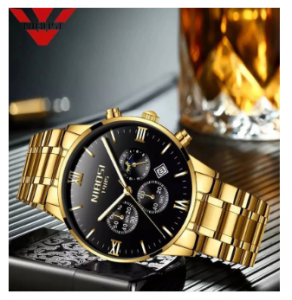 NIBOSI Fashion Men Watches Luxury Business Quartz Watch 3371
