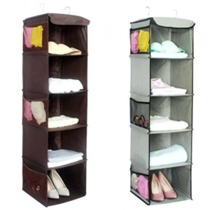 Hanging Cloth Shoe Rack Storage Space Saving (5 Shelves)