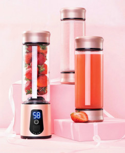 6 Blades USB Portable Electric Juicer Blender with LED Light
