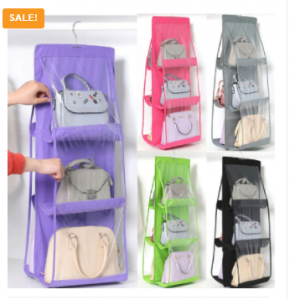 6 Pocket Hanging Bag & Cloth Organizer