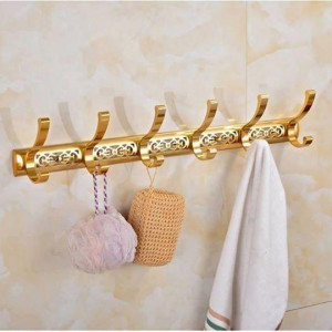 Wall Mount Cloth Hook Hanger - Golden