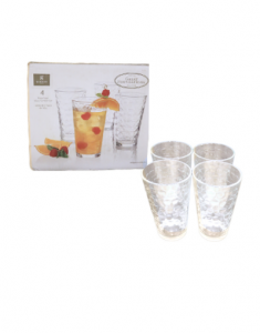 Original Gibson Home Great Foundations Square Glass Tumbler Set 473 ml 4 Piece