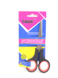 Original Baoji Plastic & Metal Mixed Color Scissor (9006)