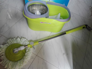 Stainless Steel Spin Mop + 2 Pcs Cloth (1st Version)