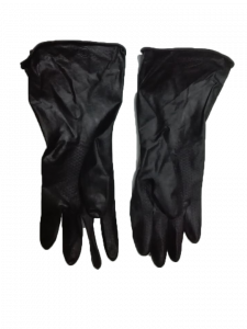 Sun Industrial Hand Glove Rubber Made Black Industrial Safety Gloves 1 Pair