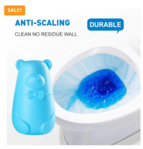 Cute Bear Blue Bubble Toilet Cleaner