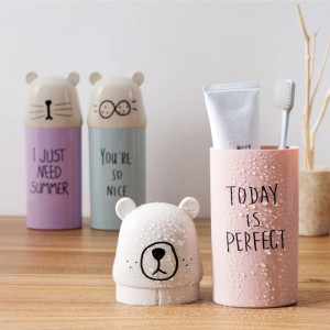 Cartoon Cute Toothbrush Organizer Box