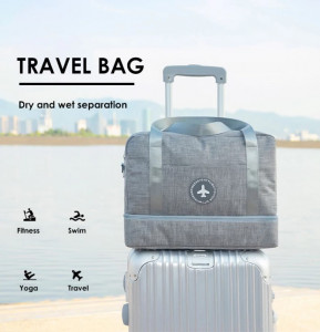 Luggage Handbag Dry Wet Separation Double Layer Waterproof