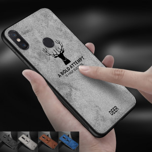 Mi A2 Cloth Texture Deer Fashion Design Soft Phone Case Cover