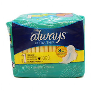 Original Always Ultra Thin Regular Size 1 Pads 18 pcs