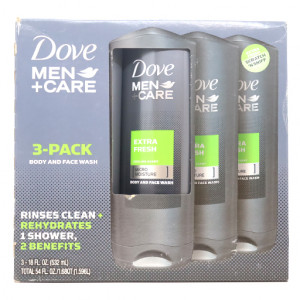 Original Dove Men+Care Body And Face Wash Extra Fresh 18 oz 3 pk