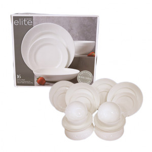 Original Gibson Elite Bone Dinnerware Set 16 Pieces