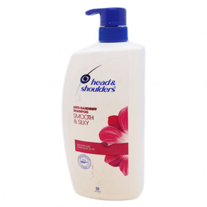 Original Head & Shoulders Smooth & Silky Anti-Dandruff Shampoo Pump 1 Ltr