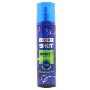 Original Layer'r Shot Absolute Series Craze Body Spray 135 ml