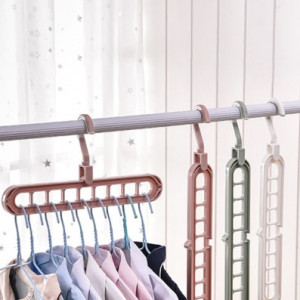 Rotatable Multifunction Plastic Magic Hanger Storage Rack