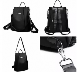 Women's Casual  2 Way Anti Thief Nylon Water Resistant Backpack