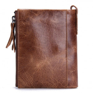 Contact's Genuine Crazy Horse Cowhide Leather Men Wallet
